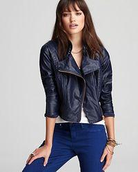 Blank Jacket Vegan Leather Moto - Blue