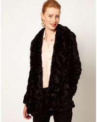 French Connection Fur Coat - Lyst