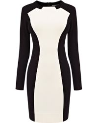Karen Millen Feminine Colourblock Knit black - Lyst