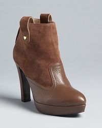 Love Moschino - Platform Ankle Booties Heart Studs - Lyst