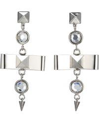Fallon - Bow Drop Earrings - Lyst