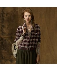 Ralph Lauren Dolmansleeve Plaid Shirt - Lyst