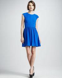 Rebecca Taylor Cap Sleeve Dress - Lyst
