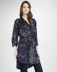 Rebecca Taylor Printed Silk Tunic - Lyst
