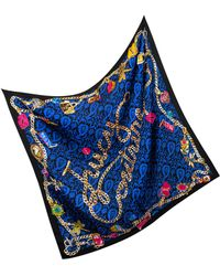 Juicy Couture - Charm Print Silk Square Scarf - Lyst