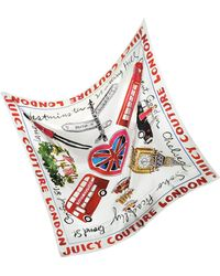 Juicy Couture - London Silk Square Scarf - Lyst