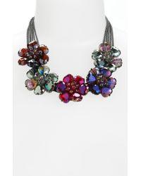Cara Accessories Statement Necklace purple - Lyst