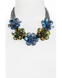 Cara Accessories Statement Necklace blue - Lyst