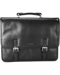 Kenneth Cole Reaction Leather Double Gusset Flapover Portfolio - Lyst