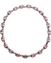 Olivia Collings - Pink Tourmaline Drop Necklace - Lyst