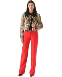 Peter Som - Leopard Coat with Collar - Lyst