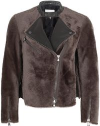 3.1 Phillip Lim Motorcycle Shearling Jacket - Lyst