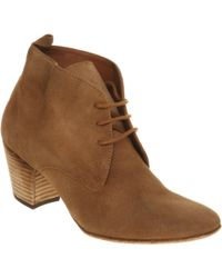 Hudson Jeans Lille Lace Up Ankle Boots - Brown