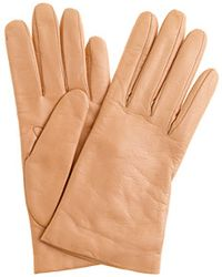 J.Crew Cashmere Lined Leather Gloves - Lyst