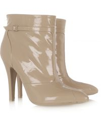 Maison Margiela Varnished Leather Ankle Boots - Lyst