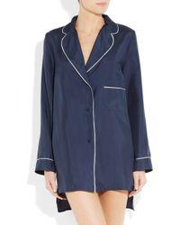 Marni Silk Pyjama Shirt - Blue