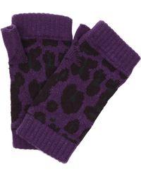 Christopher Kane Intarsia Cashmere Fingerless Gloves - Purple