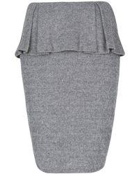 Mango Herringbone Peplum Skirt - Lyst
