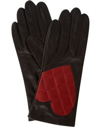 Boutique Moschino - Quilted Heart Leather Glove - Lyst