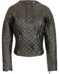 Temperley London Barbour Cedar Leather Jacket black - Lyst