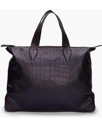 Alexander Wang - Oversize Black Croc Embossed Leather Wallie Weekender Tote - Lyst