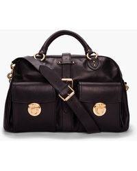 Marc Jacobs - Large Black Leather Cargo Duffle Bag - Lyst