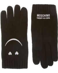 Boutique Moschino Smiley Gloves - Black