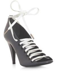 Balenciaga Cutout Laceup Shoes gray - Lyst
