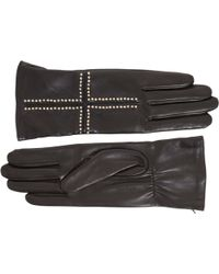 Givenchy - Studded Cross Leather Gloves - Lyst
