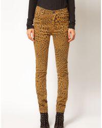 Cheap Monday Leopard Skinny Jeans animal - Lyst