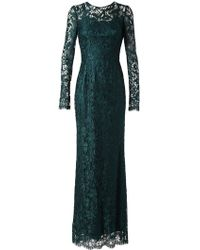 Dolce & Gabbana Lace Gown with Slip - Lyst
