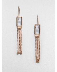 Ippolita Sterling Silver 18k Gold Clear Quartz Tassel Earrings - Lyst