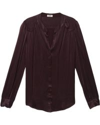 L'Agence Collar Blouse - Lyst