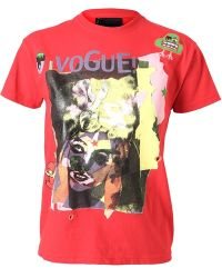 Meadham Kirchhoff Vogue Abstract Printed Tshirt - Red