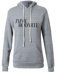 Rodarte 'Love Hate' Hooded Sweatshirt - Lyst