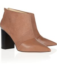 See By Chloé Suede and Leather Ankle Boot - Lyst