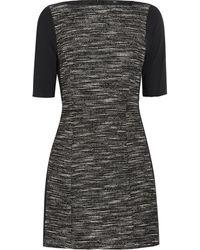 Tibi Tweed and Stretch Jersey Mini Dress - Lyst