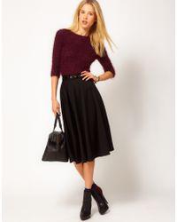 Asos Asos Midi Skirt in Ponti black - Lyst