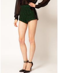ASOS Collection  Dome Short in Boucle and High Shine - Lyst