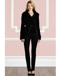 Coast Zettie Fur Jacket black - Lyst