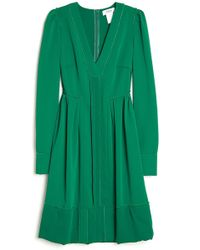 Sonia by Sonia Rykiel Long Sleeve Pleat Dress - Lyst