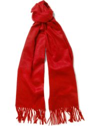 Turnbull & Asser Brushedcashmere Scarf - Lyst