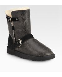 Ugg Classic Short Dylyn Suede Boots - Lyst