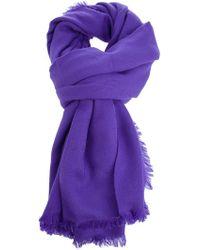 Saint Laurent Scarf purple - Lyst