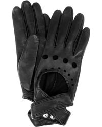 Agent Provocateur Cutout Leather Gloves - Black