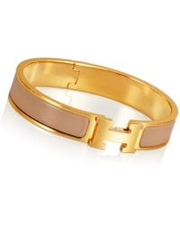 Hermès Clic H Bracelet - Lyst