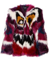 Meadham Kirchhoff Perri Monster Faux Fur Coat - Multicolour