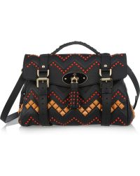 Mulberry Zigzag Leather Shoulder Bag - Lyst