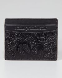 Robert Graham | Paisleyembossed Leather Credit Card Case | Lyst