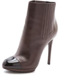 B Brian Atwood - Fragola Cap Toe Booties - Lyst